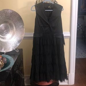 Beautiful Jerry T dress with fringed bottom